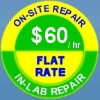 ON-SITE REPAIR $50 /hr IN-LAB REPAIR FLAT RATE